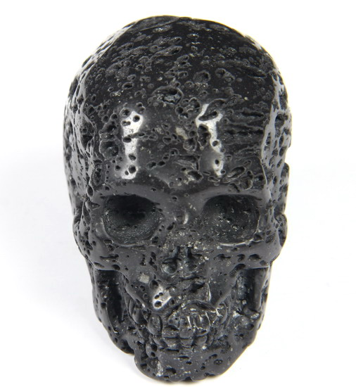 Quot hot lava stone carved crystal skull realistic